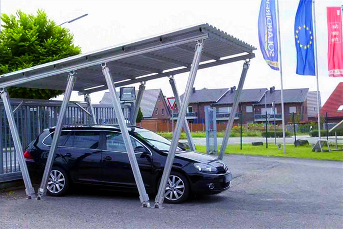 W shape Carport PV Mounting System