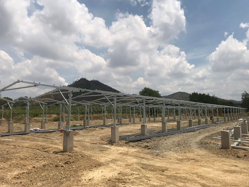 PHC Pile Ramming Pile Aluminum Solar Mounting System